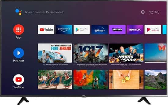 """75"""" TCL 75S434 4K UHD HDR Smart Android LED TV"""