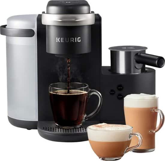 Keurig K-Cafe Single Serve K-Cup Coffee Maker (Dark Charcoal)