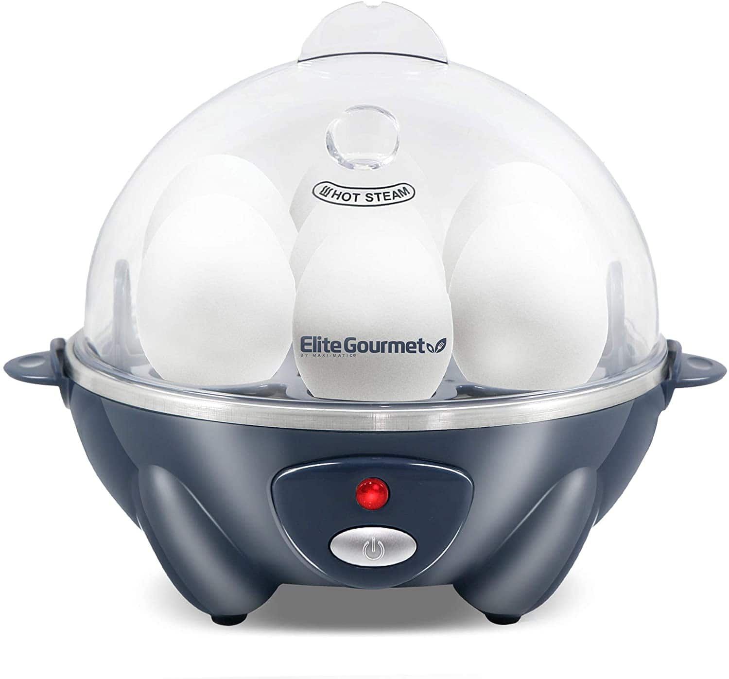 Elite Gourmet 7-Egg Easy Electric Poacher (Grey Blue or Mint)
