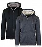 2-Pack Sherpa Lined Fleece Hoodies