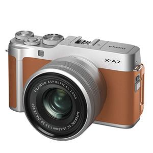 Fujifilm富士胶片棕色无反光镜单反相机X-A7镜头套装