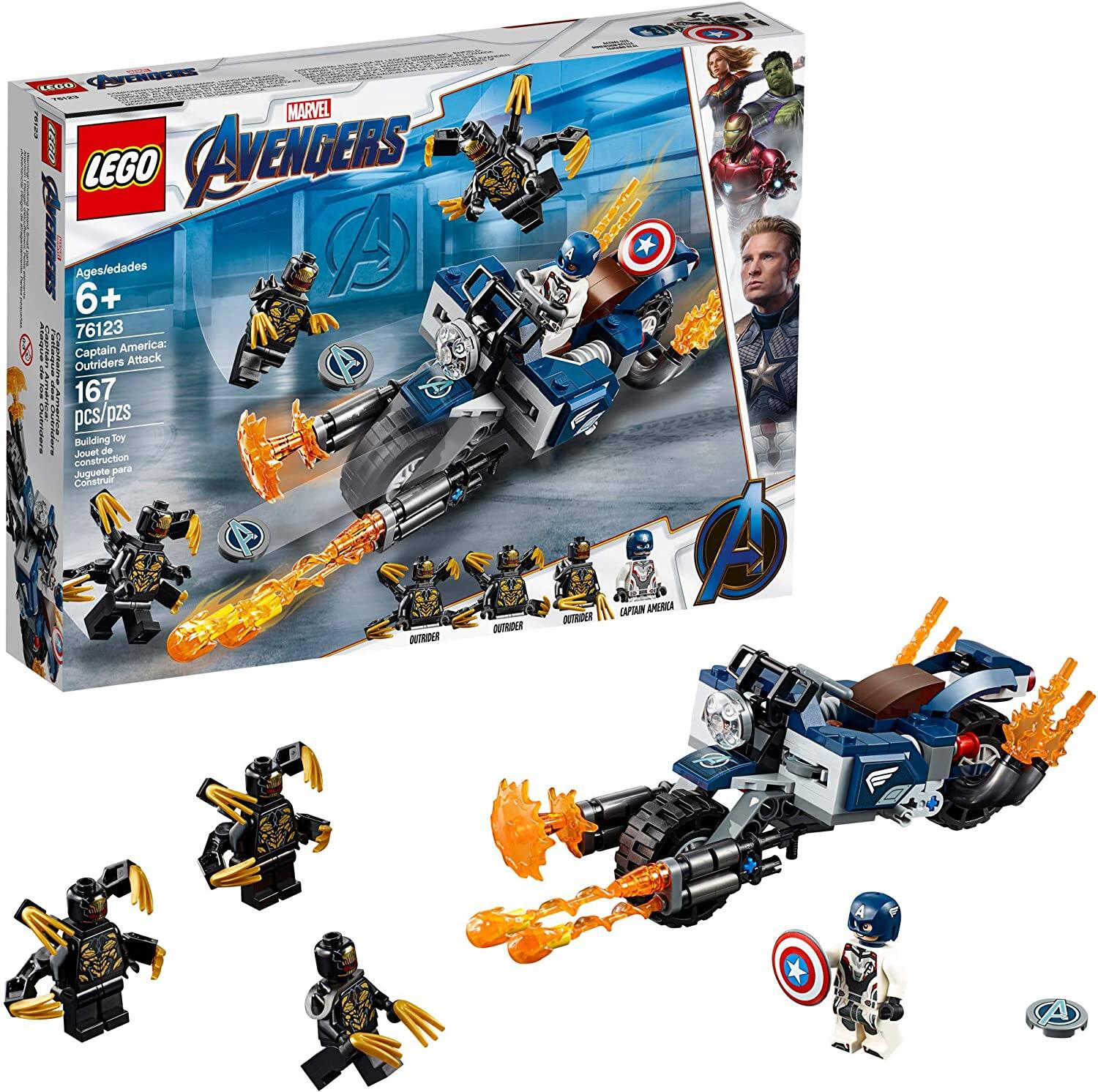 LEGO Sale: 167-Piece Marvel's Captain America Outriders Attack Set