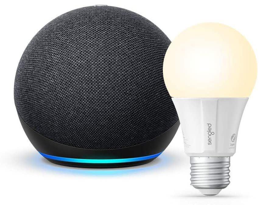 4th-Gen Amazon Echo Dot w/ Sengled Bluetooth Smart Bulb