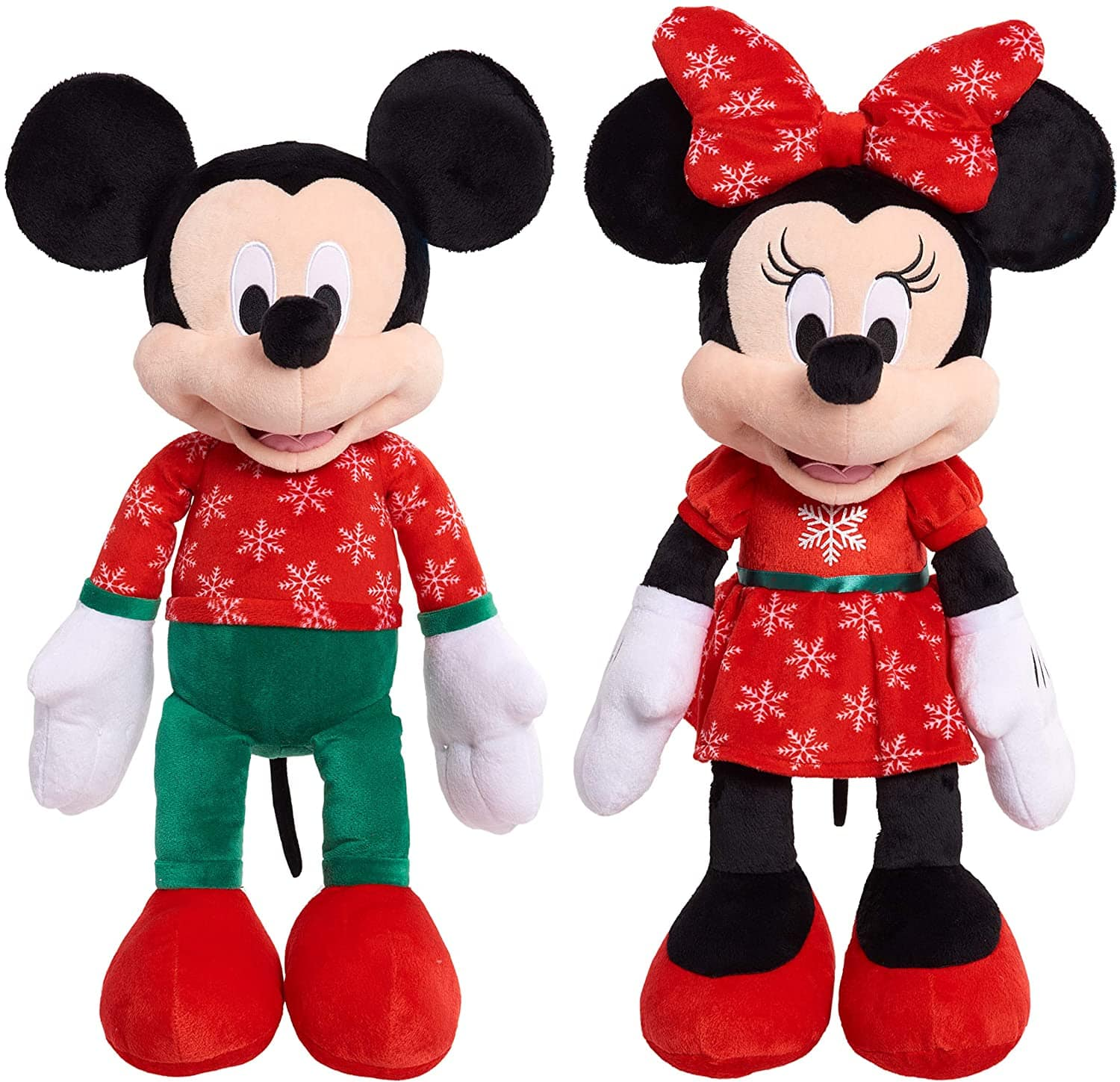 Disney Mickey or Minnie Large 2020 Holiday Plush