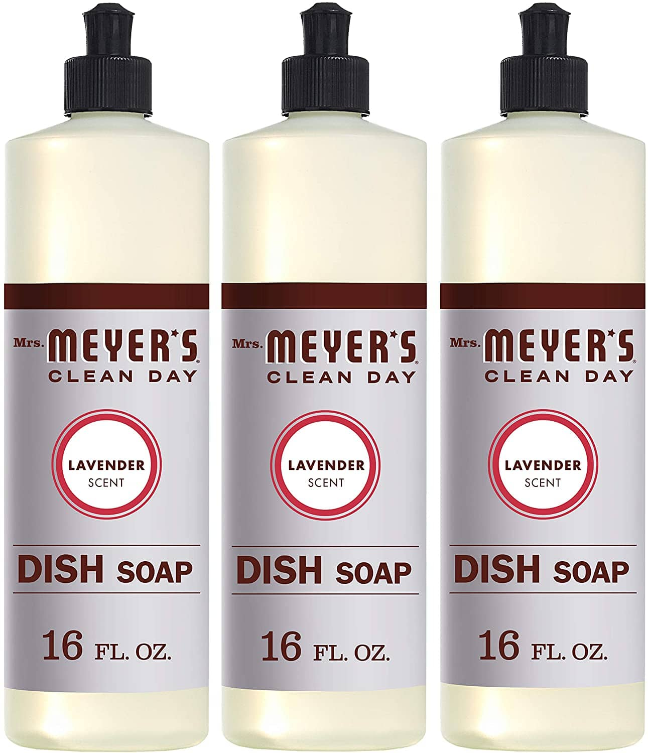 3-Count of 16-Oz Mrs. Meyers Clean Day Liquid Dish Soap (Lavender)