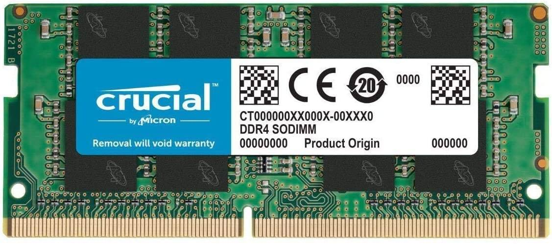 16GB (1x16GB) Crucial DDR4 2666Mhz CL19 Laptop or Desktop Memory