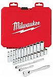 Milwaukee 26-Pieces 1/4 in. Socket Mechanics Tool Set