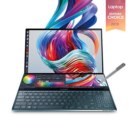 金盒特价!史低价!ASUS 华硕 ZenBook Pro Duo UX581GV 双屏幕 15.6英寸 4K OLED 笔记本电脑,i7-9750H/RTX 2060/16GB/1TB PCIe