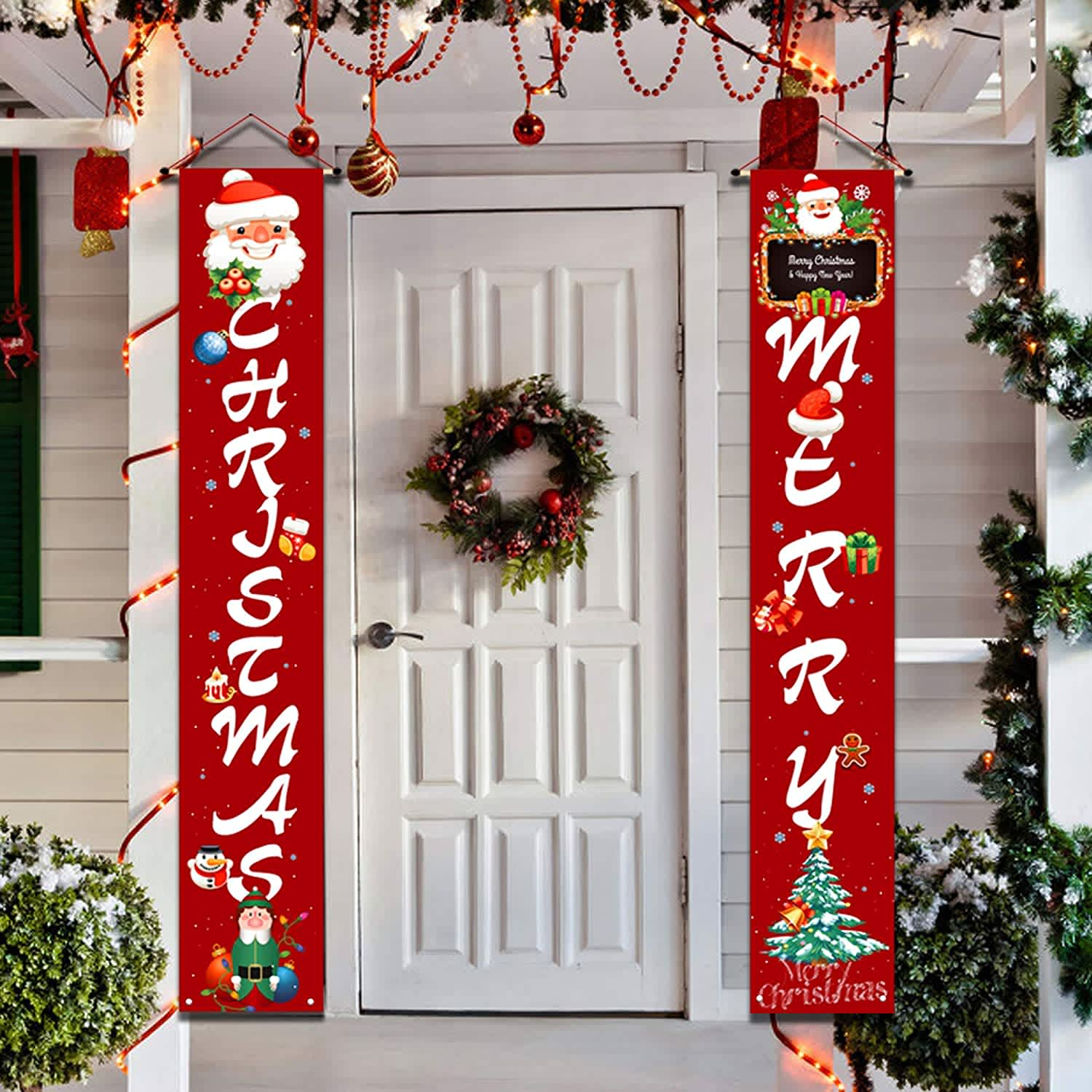 Yufol Outdoor Christmas Banner Decorations 2-Pack