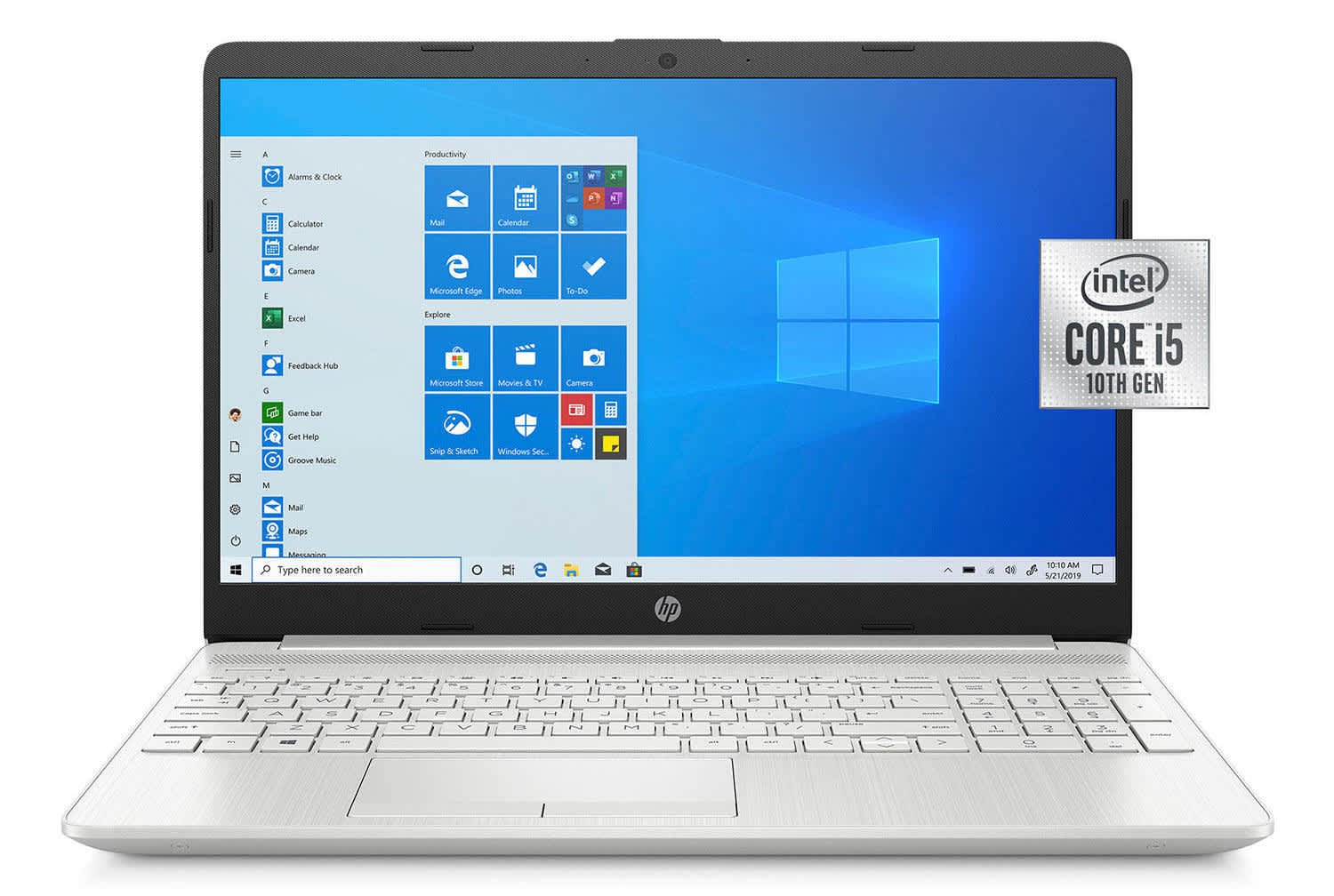 "HP 10th-Gen. Ice Lake i5 15.6"" Laptop w/ 2-Year Warranty Care Pack"