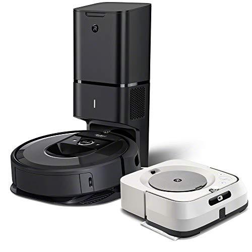 iRobot Roomba i7+ (7550) Robot Vacuum with Braava Jet M6 (6110) Ultimate Robot Mop