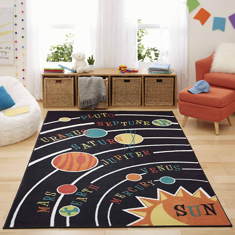 5' x 8' Mohawk Home Aurora Solar System Kids' Rug