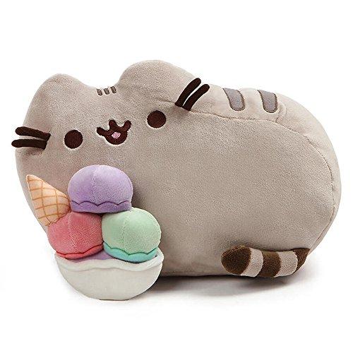 史低价!GUND Pusheen 吃冰淇淋的胖吉猫,12吋