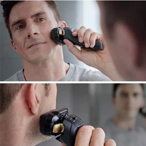 降价!Panasonic松下 ES-LV97-K811 旗舰级 带清洁桶电动剃须刀