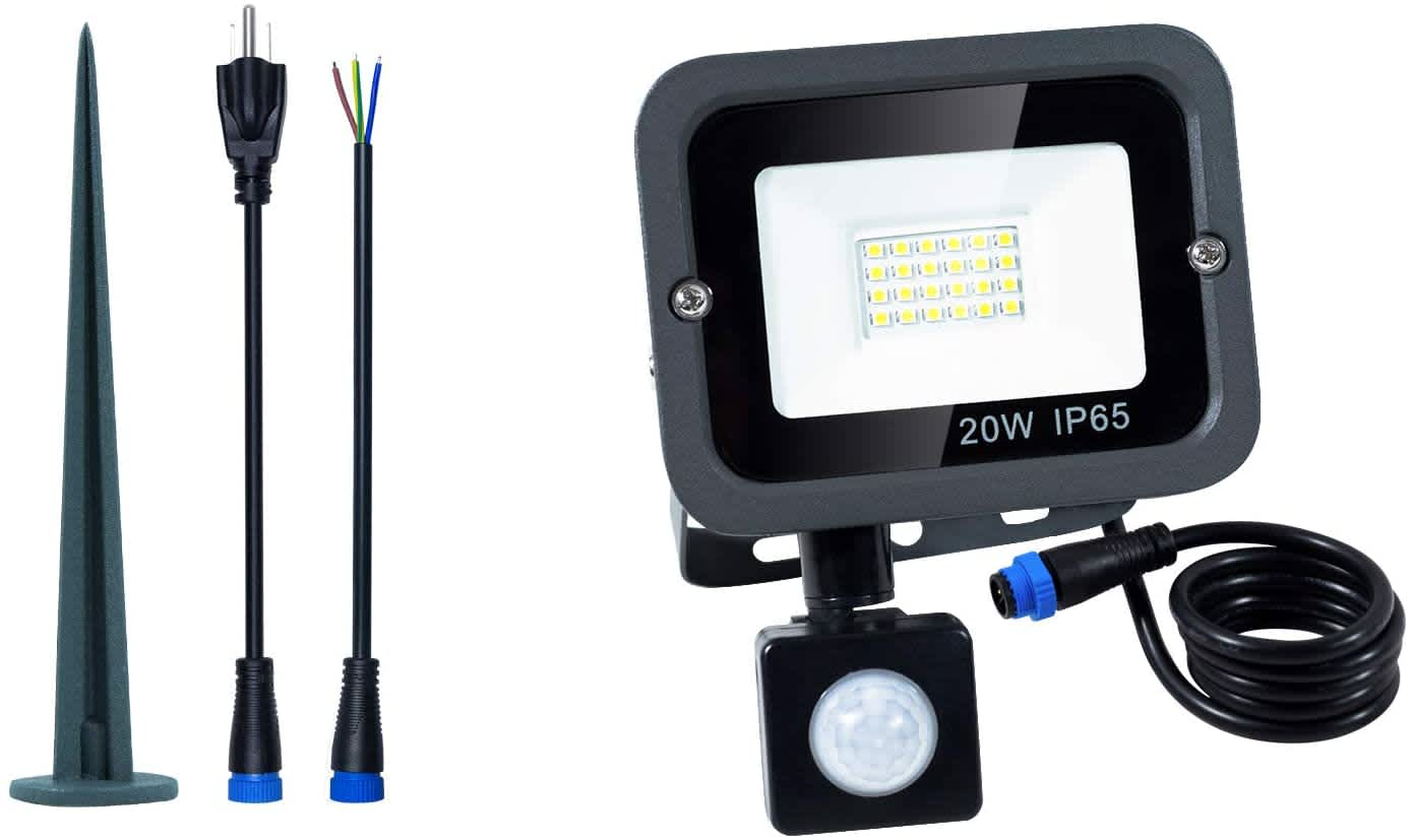 Orogi 20W Motion Sensor LED Flood Light