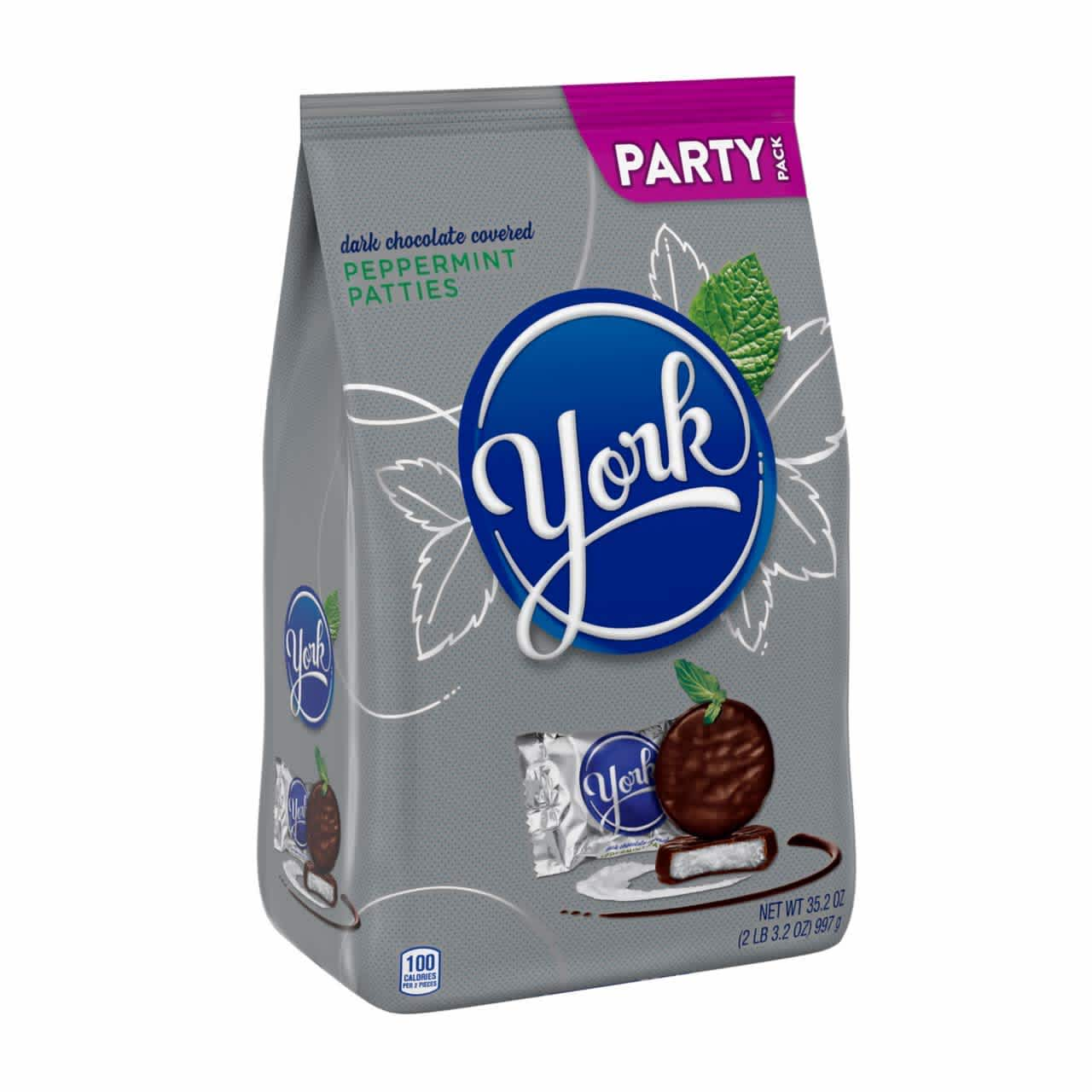York Dark Chocolate Peppermint Candy Patties 35.2-oz. Bag