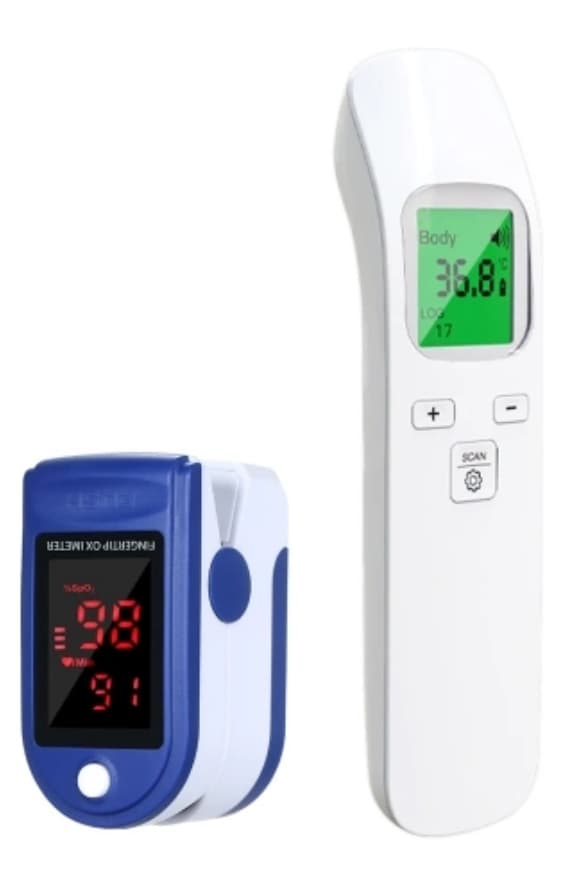 Non-Contact Thermometer and Oximeter