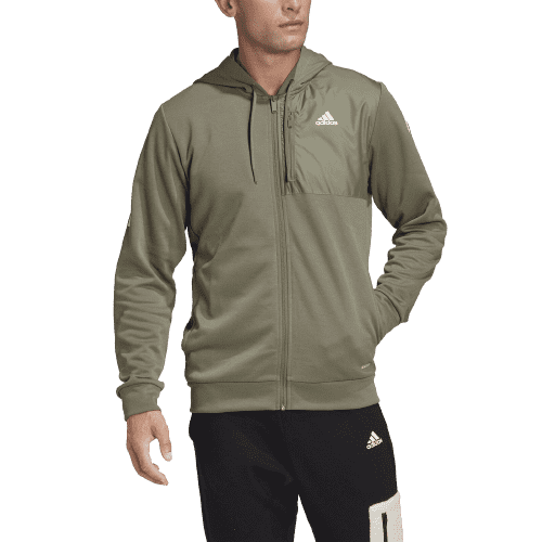 adidas Men's AeroReady Full-Zip Hoodie