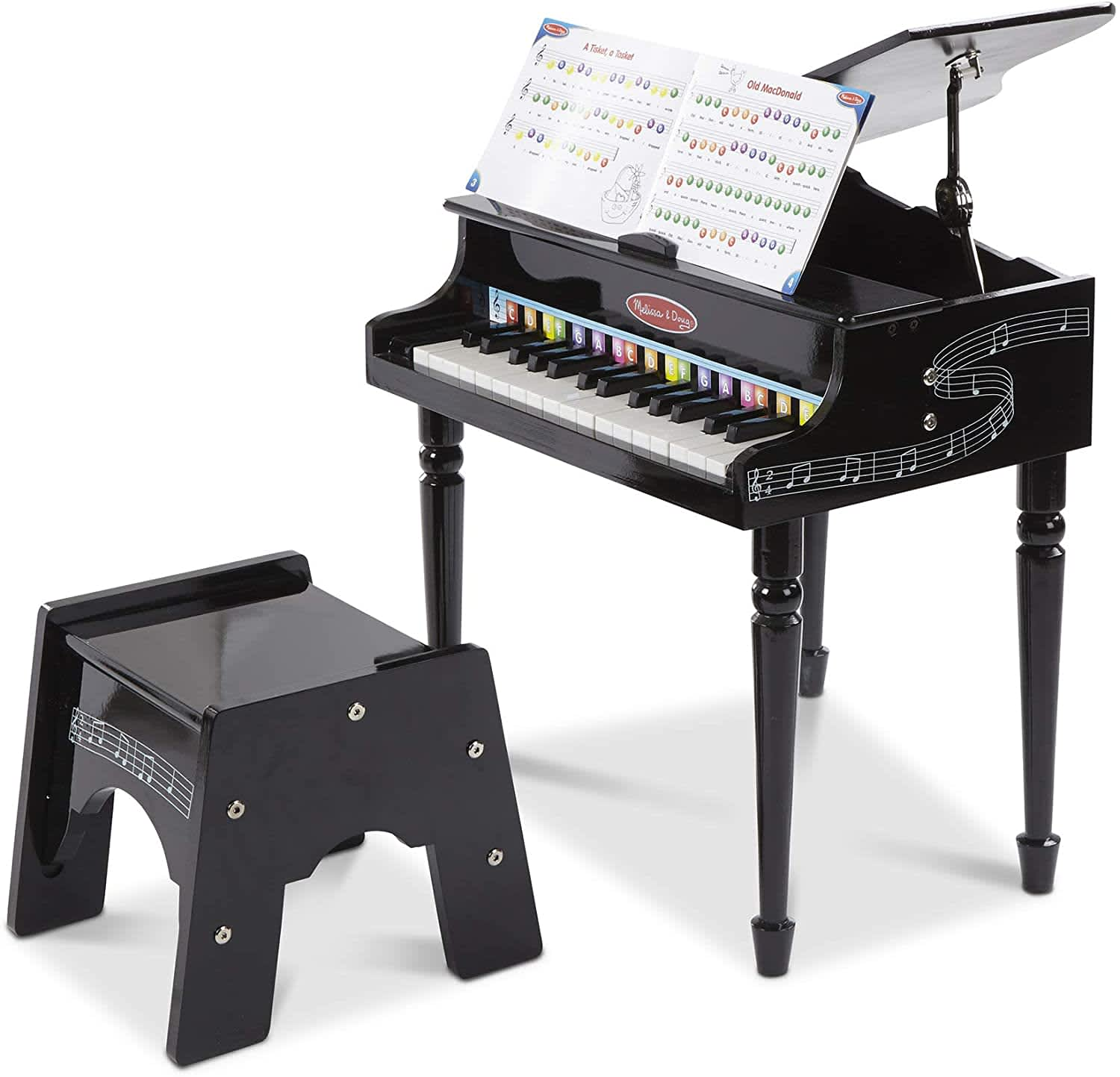 Melissa & Doug Learn-to-Play Classic Grand Piano