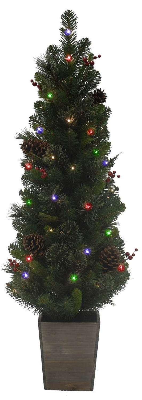 Celebrations 4ft. 50-LED Potted Cedar Pine Tree