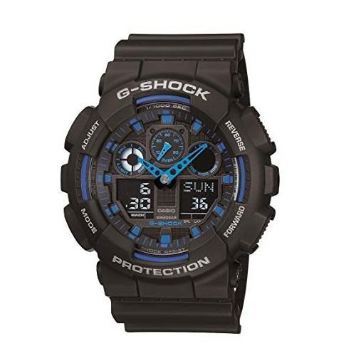 史低价!CASIO 卡西欧 G-SHOCK GA100C-1A2CR男款双显腕表