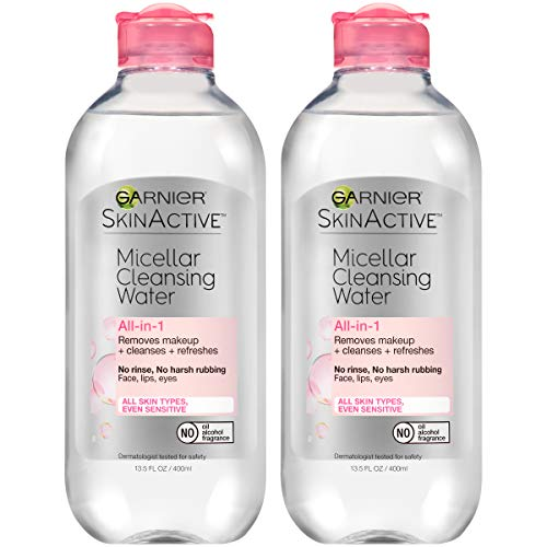 Garnier SkinActive Micellar Cleansing Water, For All Skin Types, 13.5 Fl. Oz (2 Count)