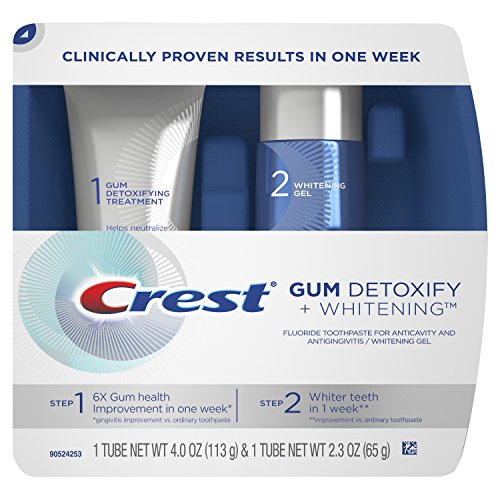 Crest Gum Detoxify Plus Whitening 2 Step Toothpaste, 4.0 oz and 2.3 oz