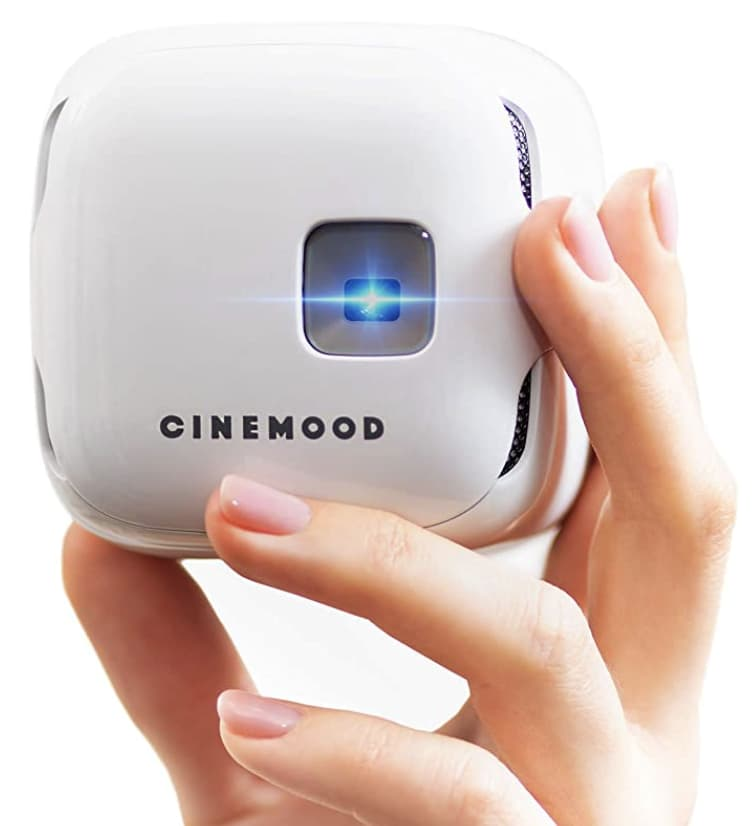 Cinemood Portable Movie Theater DLP Projector with Kid-Friendly Content
