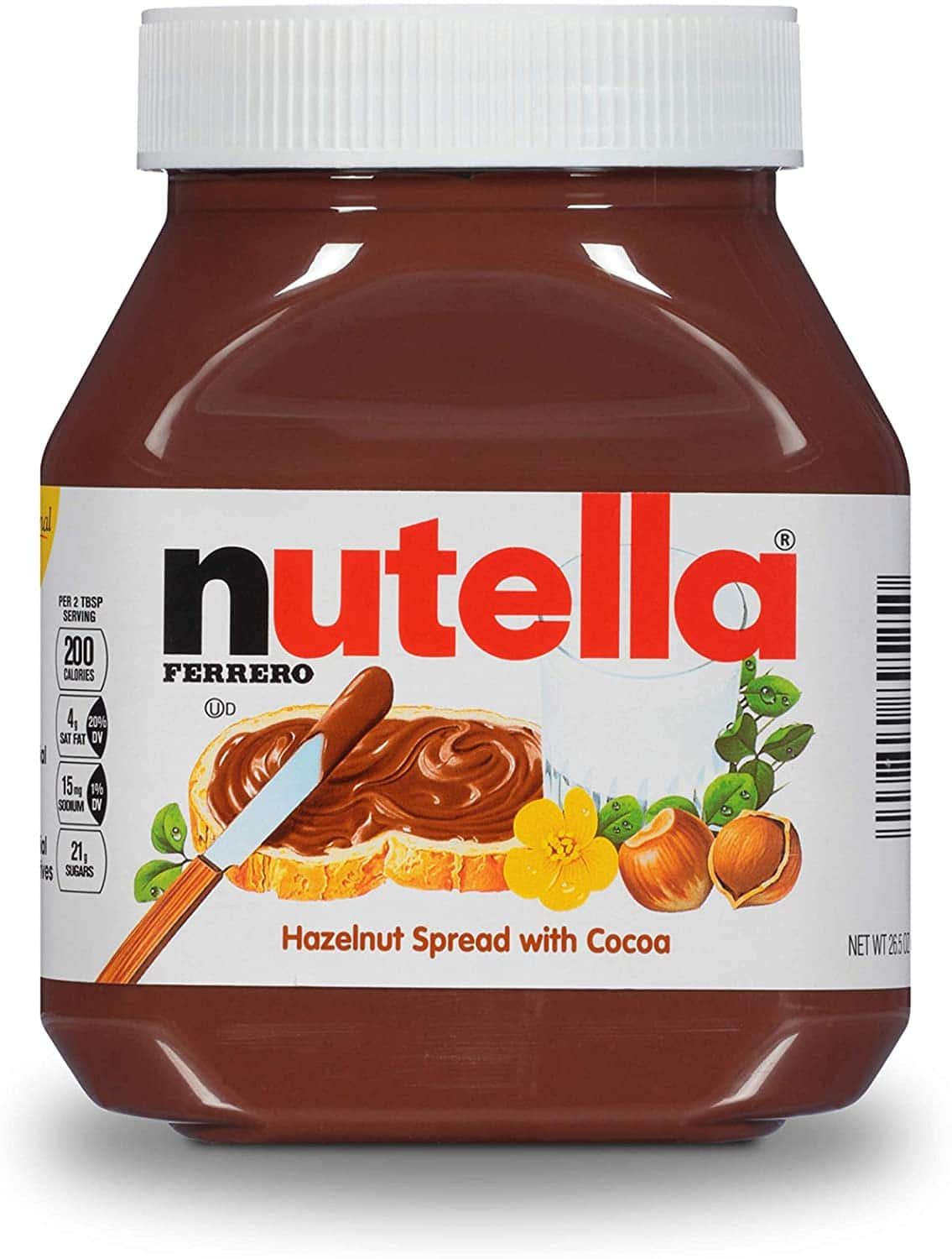 26.5oz. Nutella Chocolate Hazelnut Spread w/ Cocoa