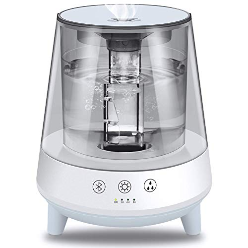 Cyber week deal! Gocheer 2L Ultrasonic Cool Mist Humidifier, Quiet Air Humidifier with Auto Shut-Off, Bluetooth Connection discounted price