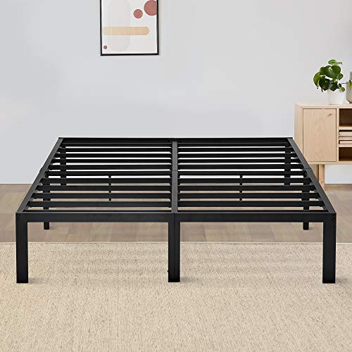 Olee Sleep 14 Inch Dura Metal Steel Slate Bed Frame - T2000 King