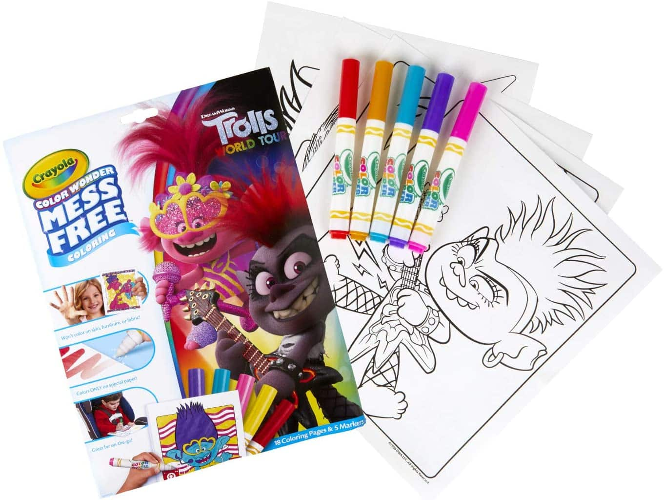 Crayola Color Wonder: Mess Free Coloring Book w/ Markers (Trolls)
