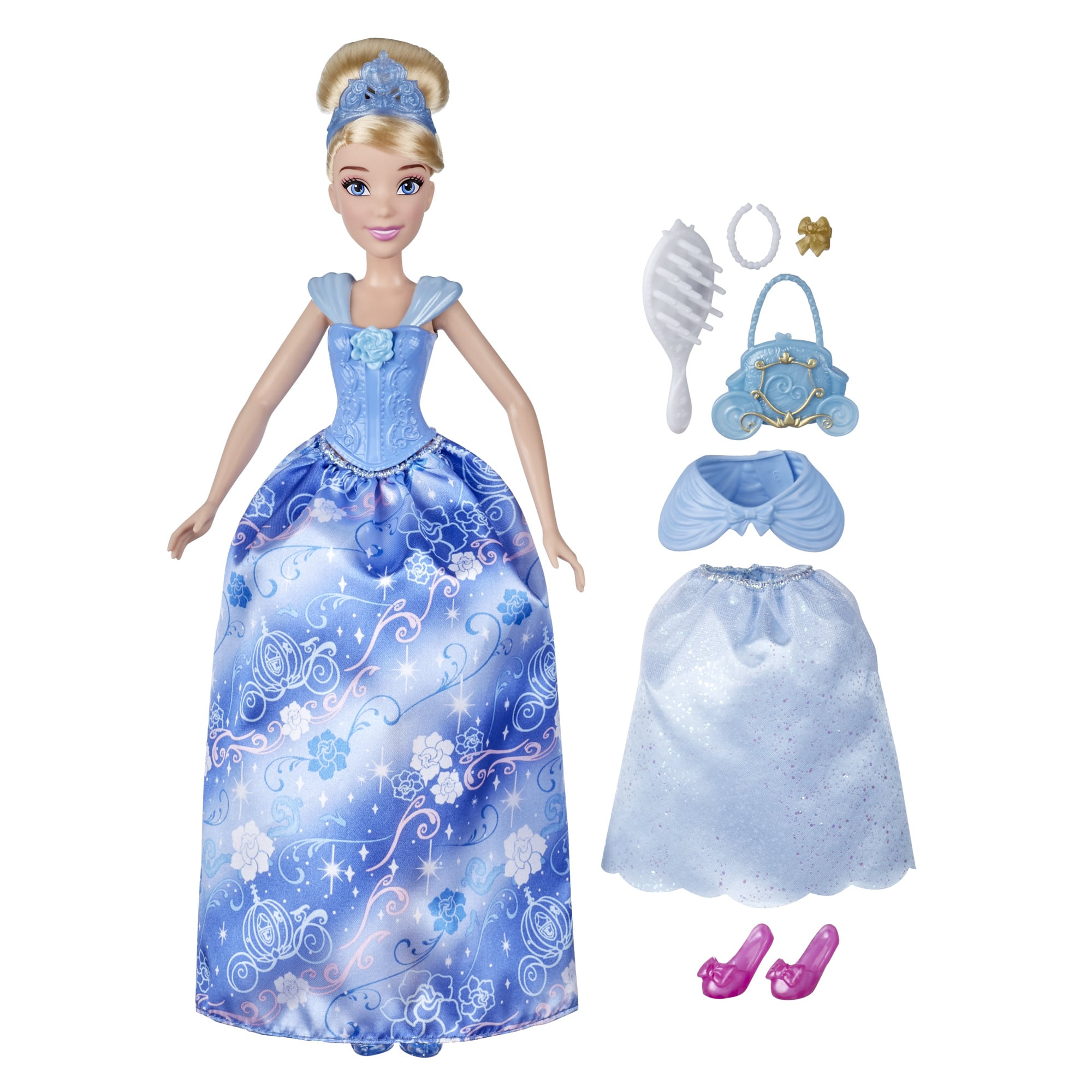 Disney Princess Style Surprise Cinderella Doll w/ 10 Fashions & Accessories