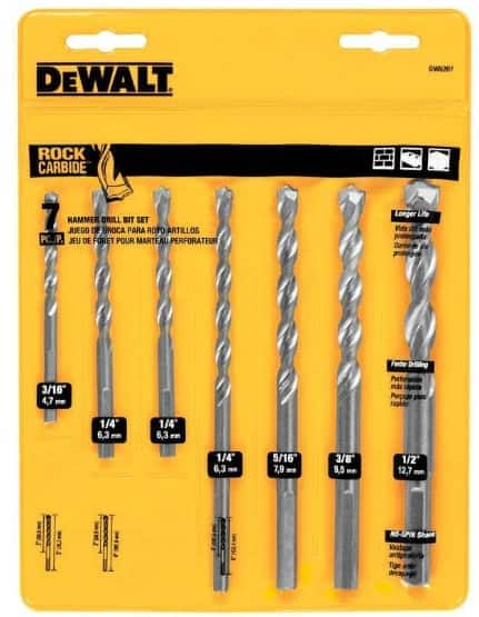 "DeWALT: 7-Pc Carbide Masonry Drill Bit Set or 6-Pk 6"" Reciprocating Saw Blades"