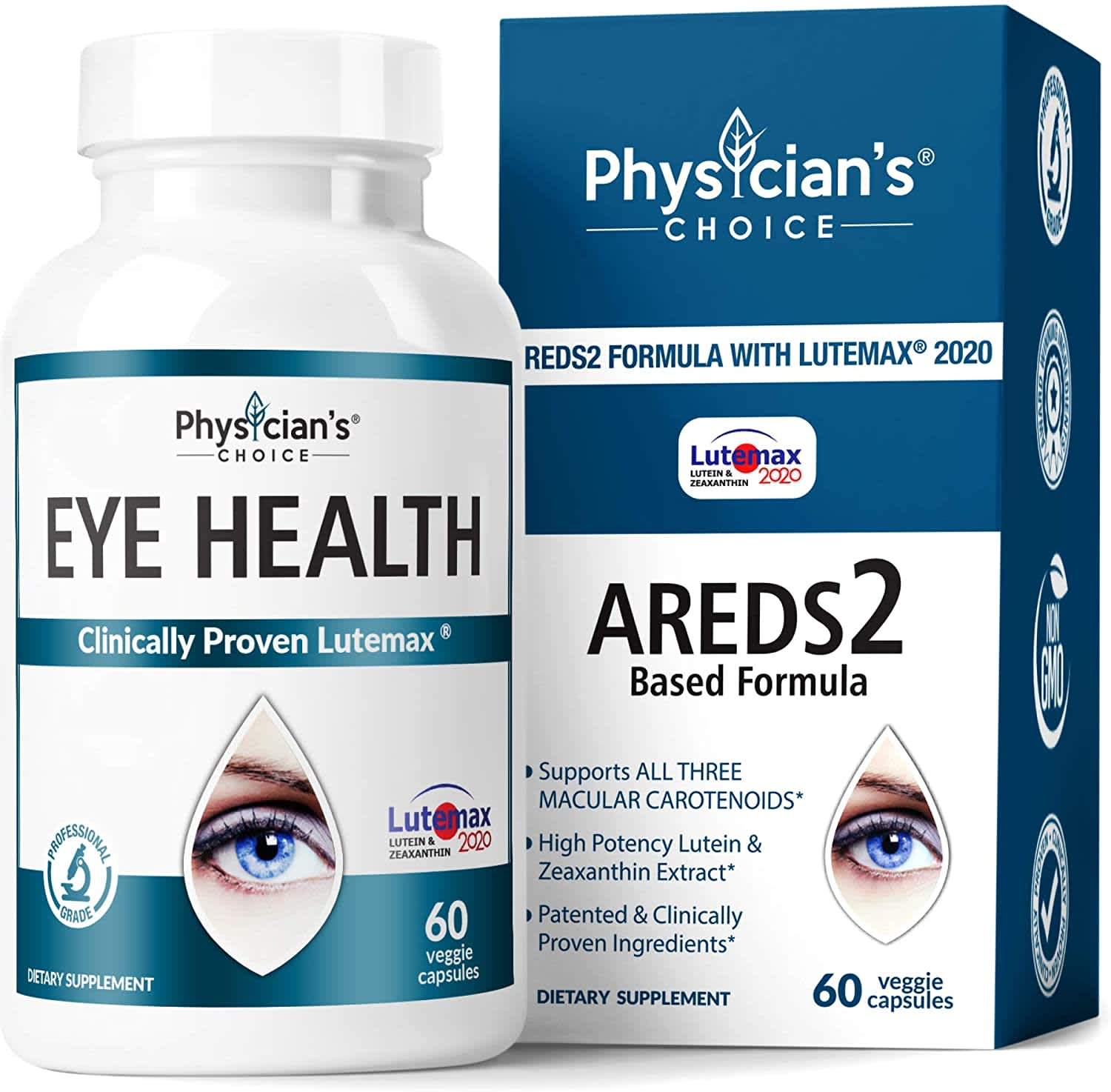 Two Physicians' Choice Eye Health Supplement 60-Count Bottles (120-count total)
