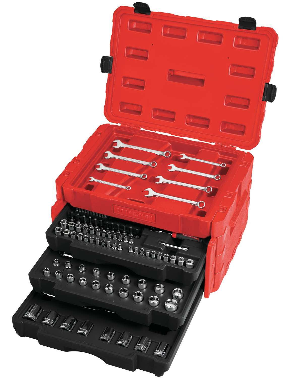 Craftsman 227-Piece SAE and Metric 12-Point Mechanics Tool Set
