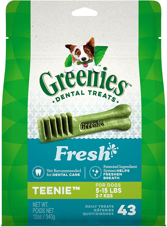 Greenies Fresh Natural Dental Dog Treats: 43-ct Teenie or 20-ct Petite