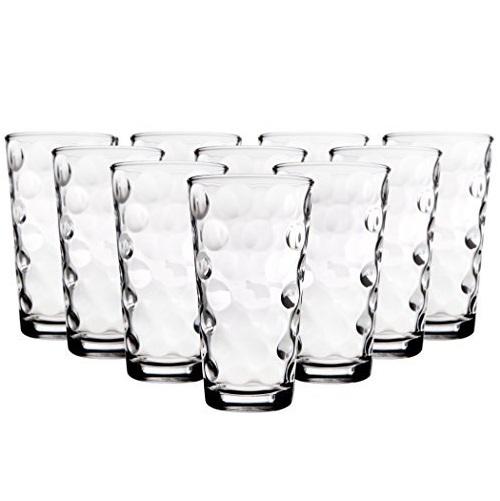 史低价!Home Essentials & Beyond 玻璃水杯10个装,每个容量17 oz