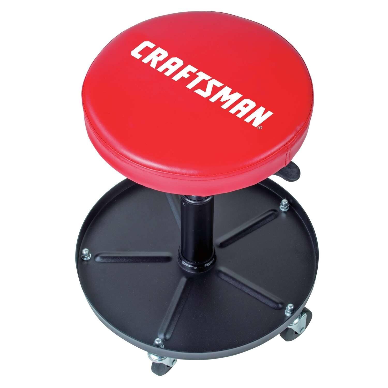 Craftsman Adjustable Mechanics Seat With Tray