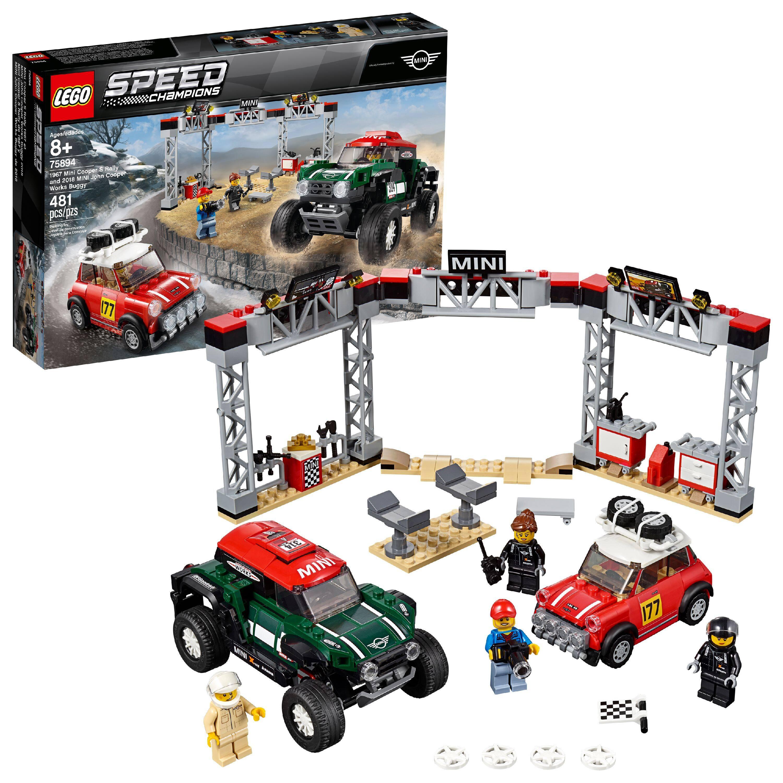 481-Pc Lego Speed Champions Mini Cooper S Rally & 2018 MINI John Cooper Works Buggy