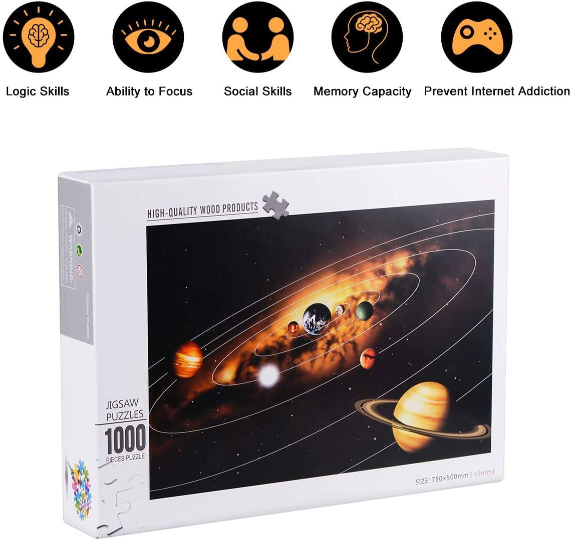 1000-Piece SnowCinda Jigsaw Puzzle (Solar System in Space)