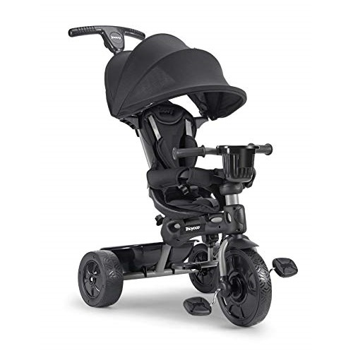 Joovy Tricycoo 4.1 Kid's Tricycle, Push Tricycle, Toddler Trike, Black