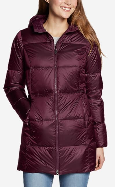 Eddie Bauer Parkas: Rainfoil Insulated $57.25, Luna Peak Down