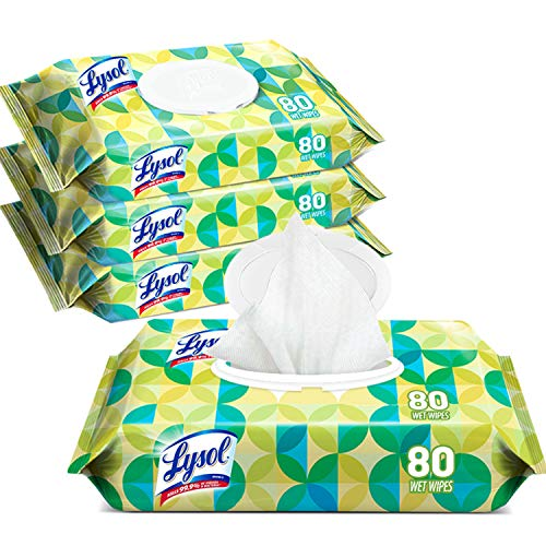 Lysol Handi-Pack Disinfecting Wipes, 320ct (4X80ct), Country Scent, Cleaning Wipes, Antibacterial Wipes, Sanitizing Wipes, Cleaning Supplies