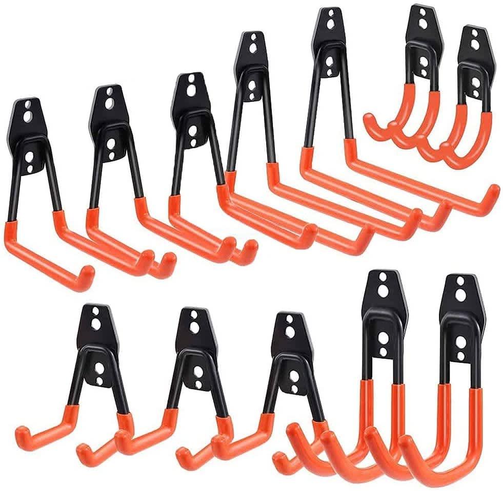 Macgo Heavy Duty Garage Hooks 12-Pack