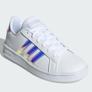 Adidas阿迪达斯GRAND COUR大童款板鞋 镭射款