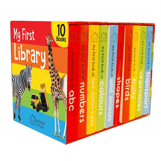 My First Library : Boxset of 10 Board Books for Kids Board book – April 25, 2018