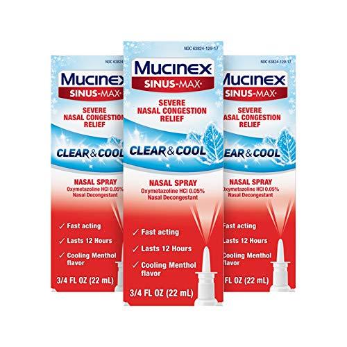 Mucinex 鼻子舒缓喷雾,0.75 oz/瓶,共3瓶