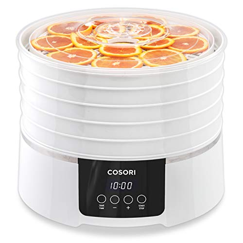 COSORI Food Dehydrator Machine(50 Recipes) with Digital Timer and Thermostat Preset,5 BPA-Free Trays Food Dryer for Beef Jerky,Fruit,Dog Treats,Herbs