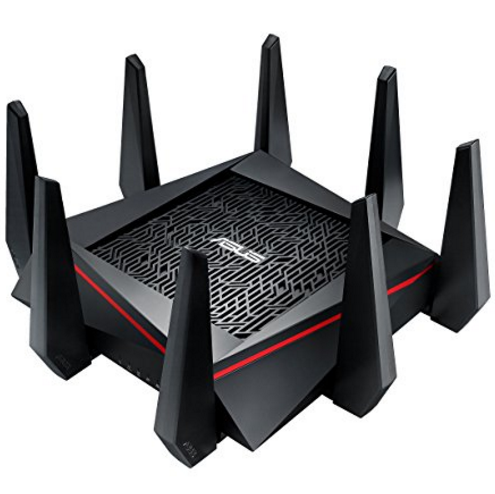 ASUS RT-AC5300 AC5300 Tri-band WiFi Gaming Router, MU-MIMO, AiProtection Lifetime Security by Trend Micro, AiMesh compatible for Mesh WiFi System, WTFast game accelerator,Black
